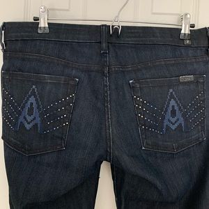 7 for all Mankind crystal jeans